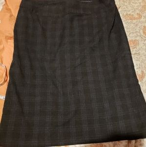 1940s 50s Style Plaid Pencil Skirt Banana Republic